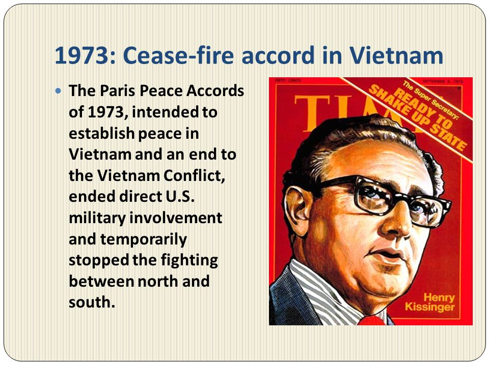 1973: Cease-fire accord in Vietnam
