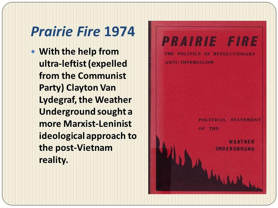 Prairie Fire 1974