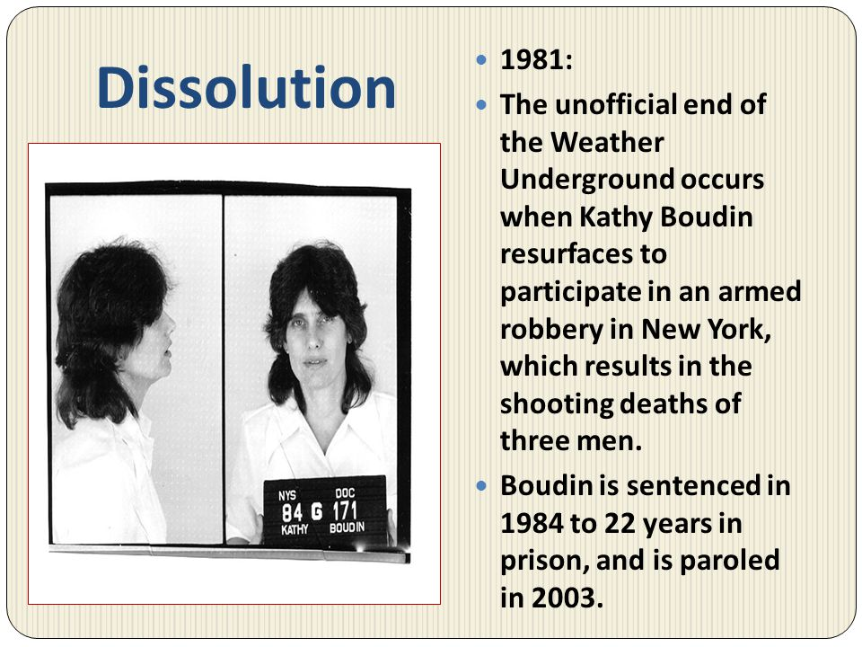 Dissolution 1981: