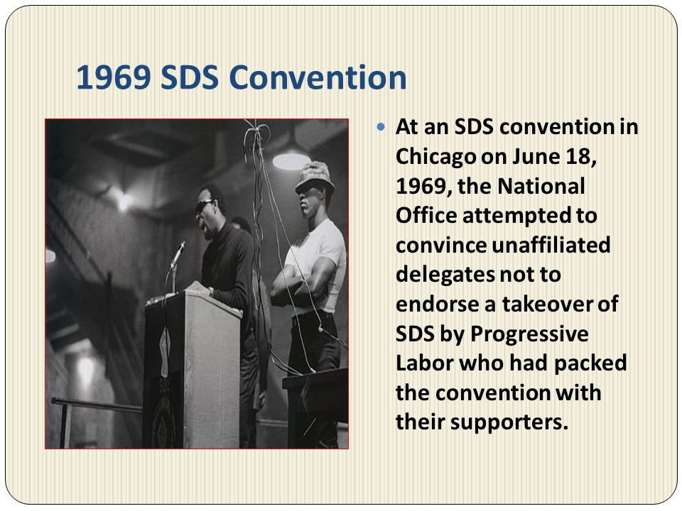 1969 SDS Convention