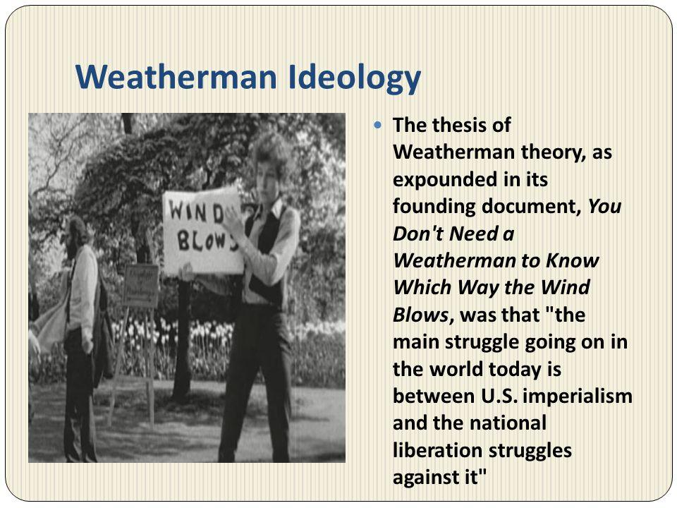 Weatherman Ideology