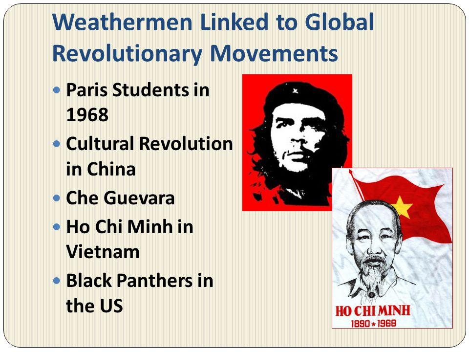 Weathermen Linked to Global Revolutionary Movements