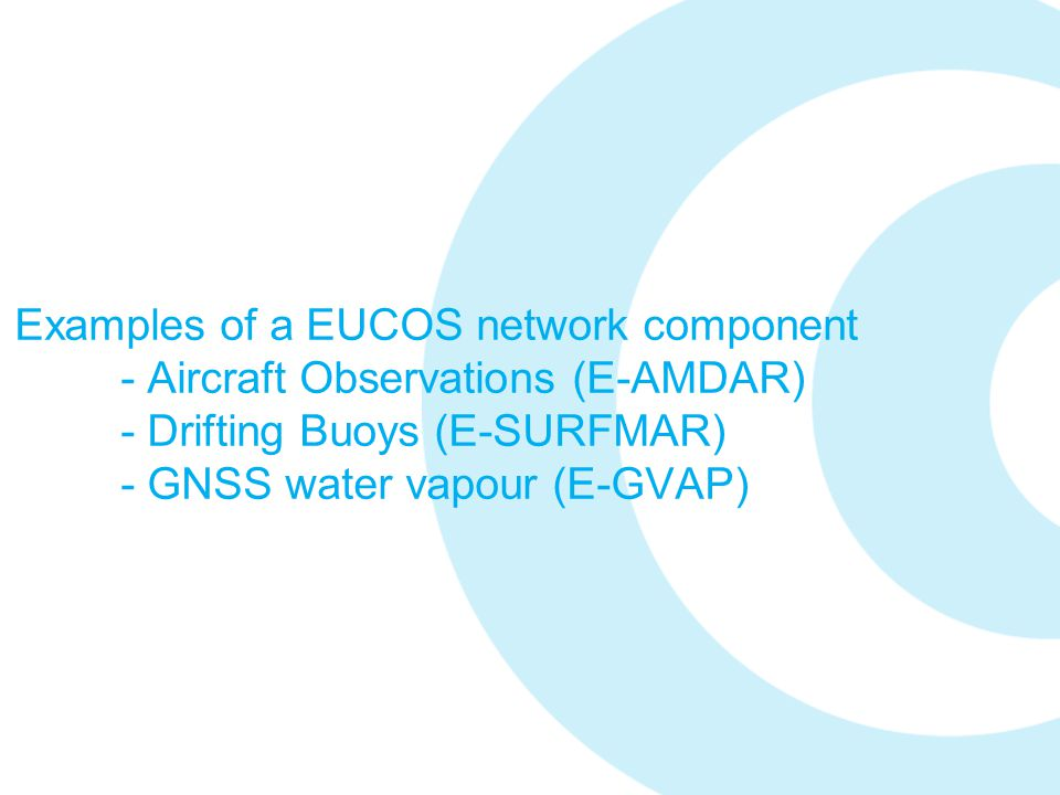 Examples of a EUCOS network component
