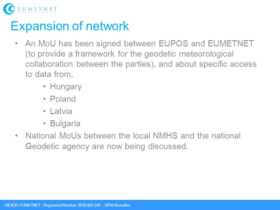 Expansion of network