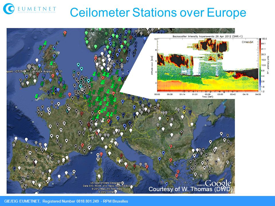 Ceilometer Stations over Europe