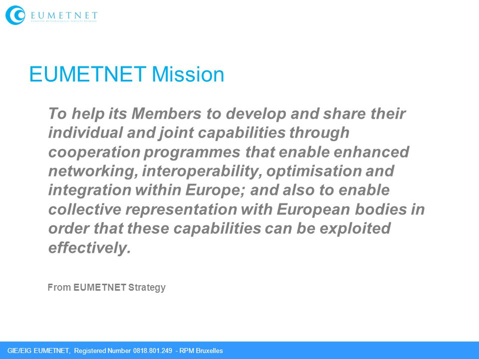 EUMETNET Mission
