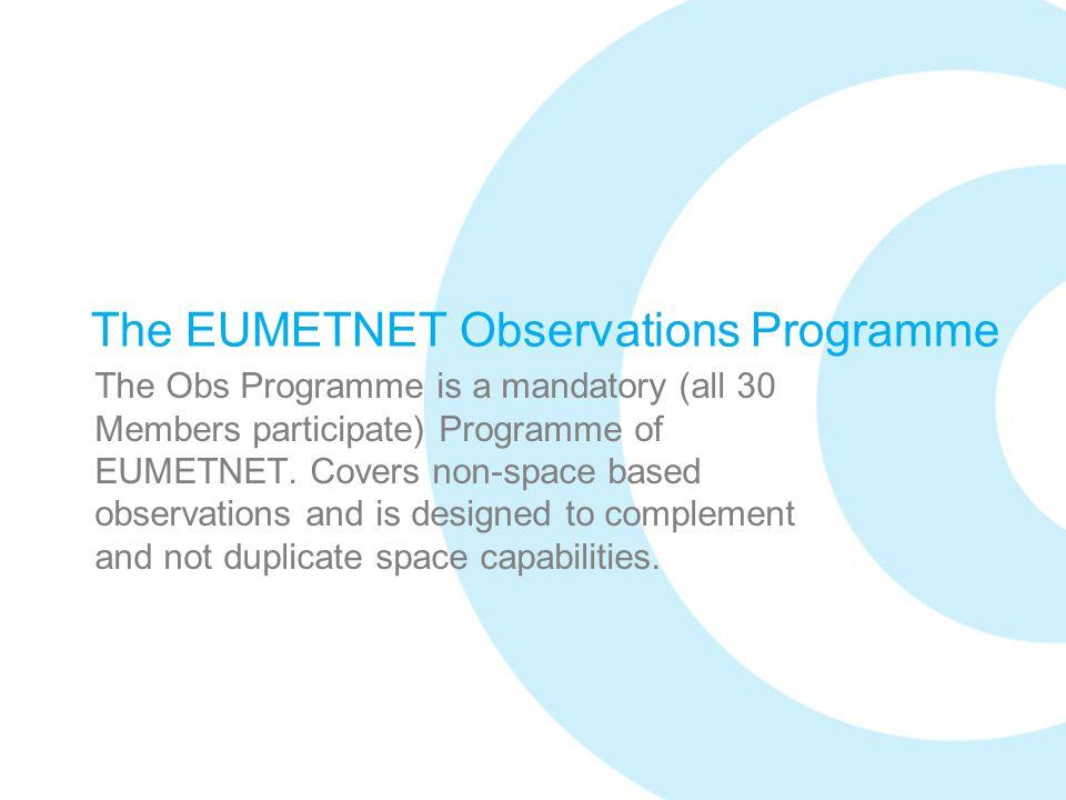 The EUMETNET Observations Programme