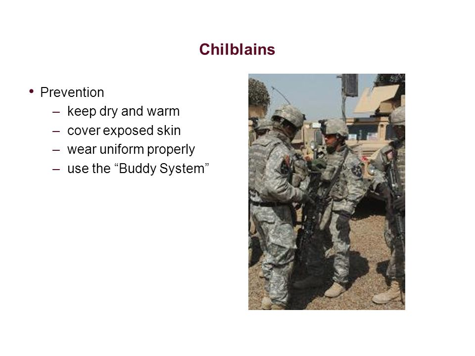 Chilblains Prevention keep dry and warm cover exposed skin
