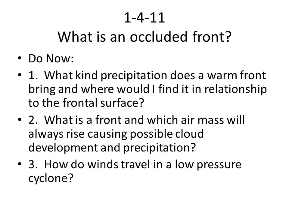 1-4-11 What is an occluded front