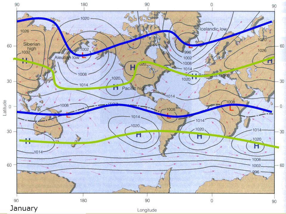 January Global Pressure Map