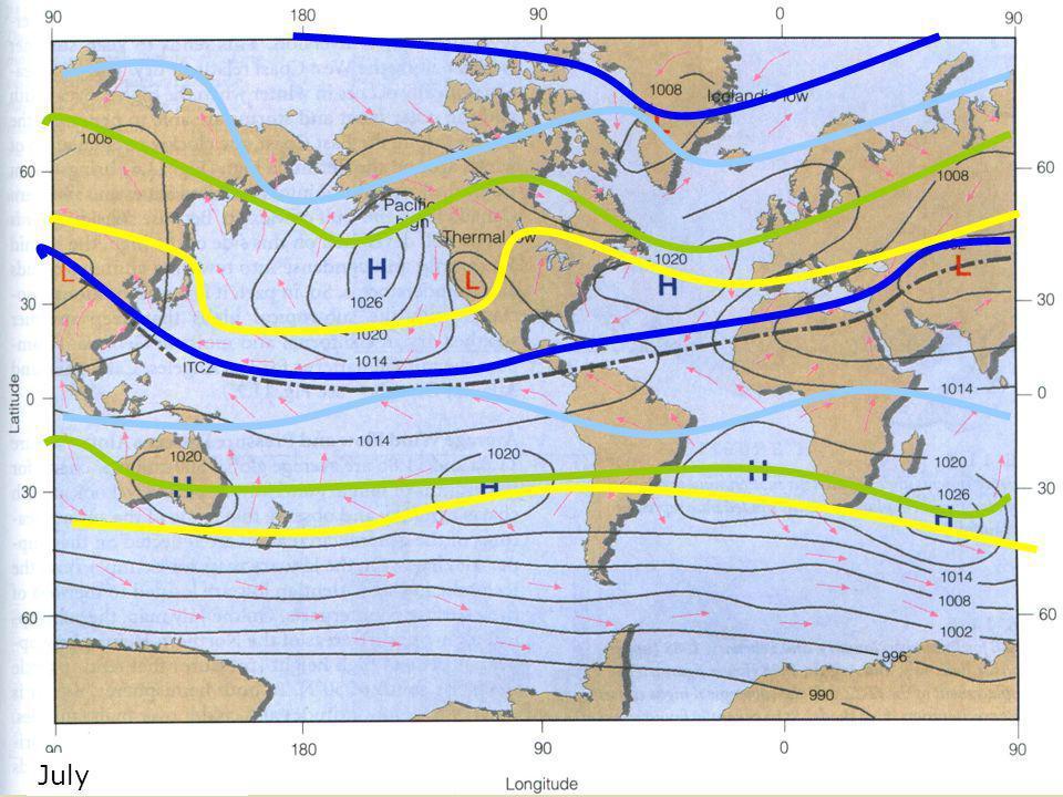 July Global Pressure Map