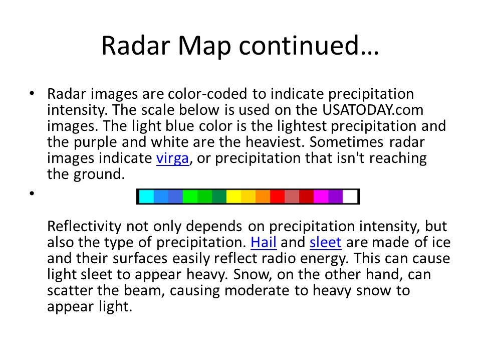 Radar Map continued…
