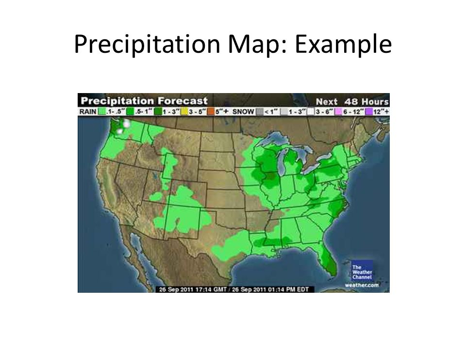 Precipitation Map: Example