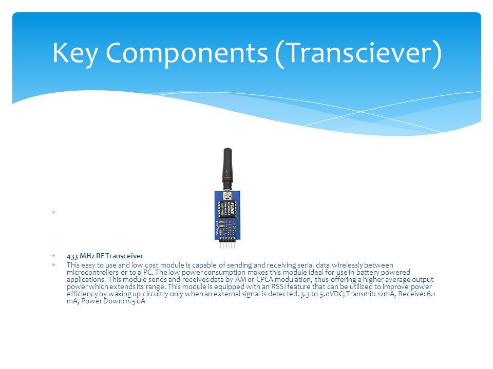 Key Components (Transciever)