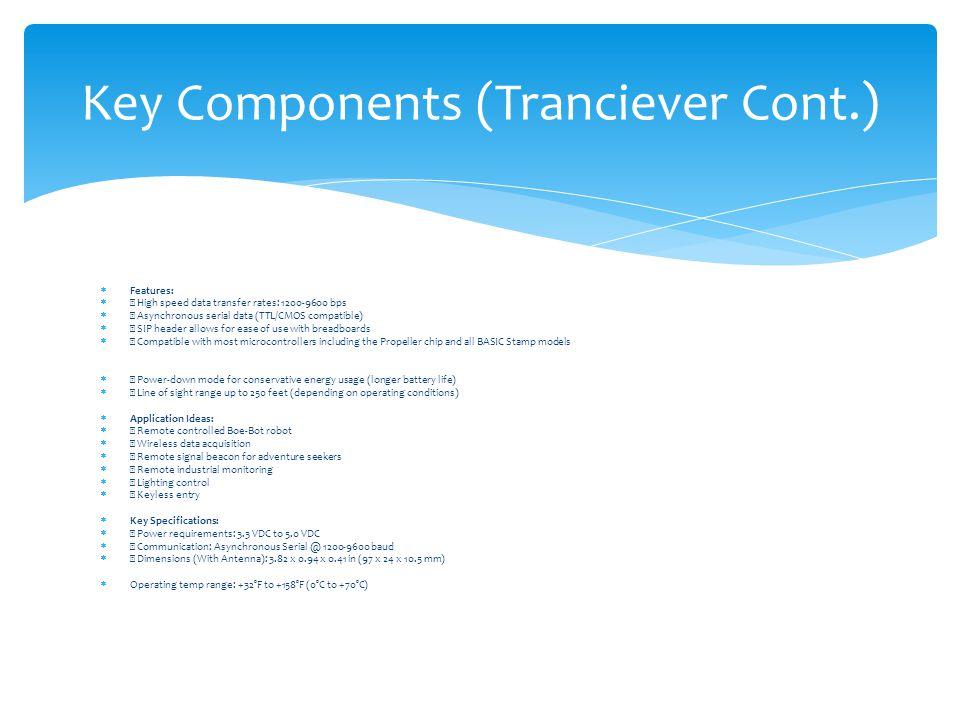 Key Components (Tranciever Cont.)
