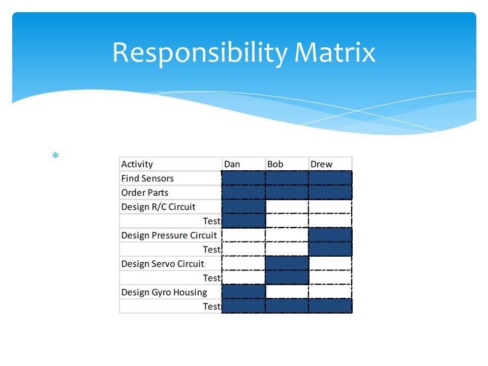 Responsibility Matrix