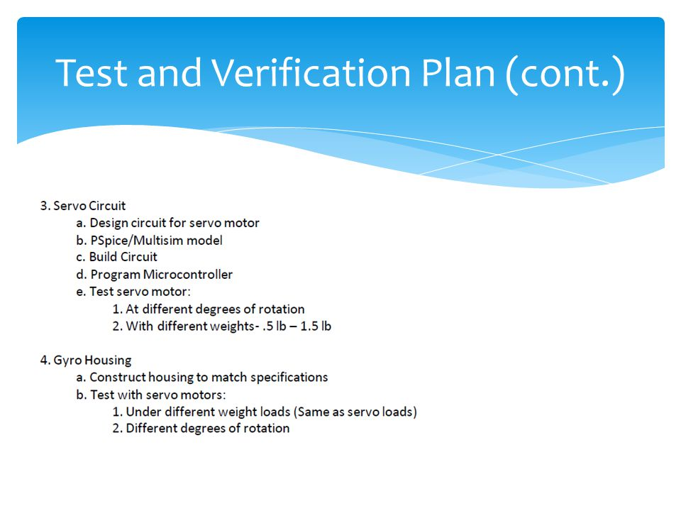 Test and Verification Plan (cont.)