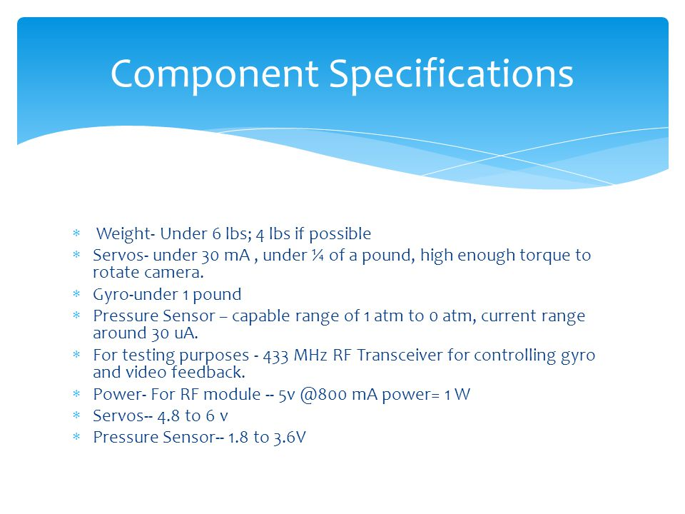 Component Specifications