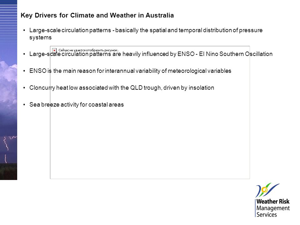 Key Drivers for Climate and Weather in Australia