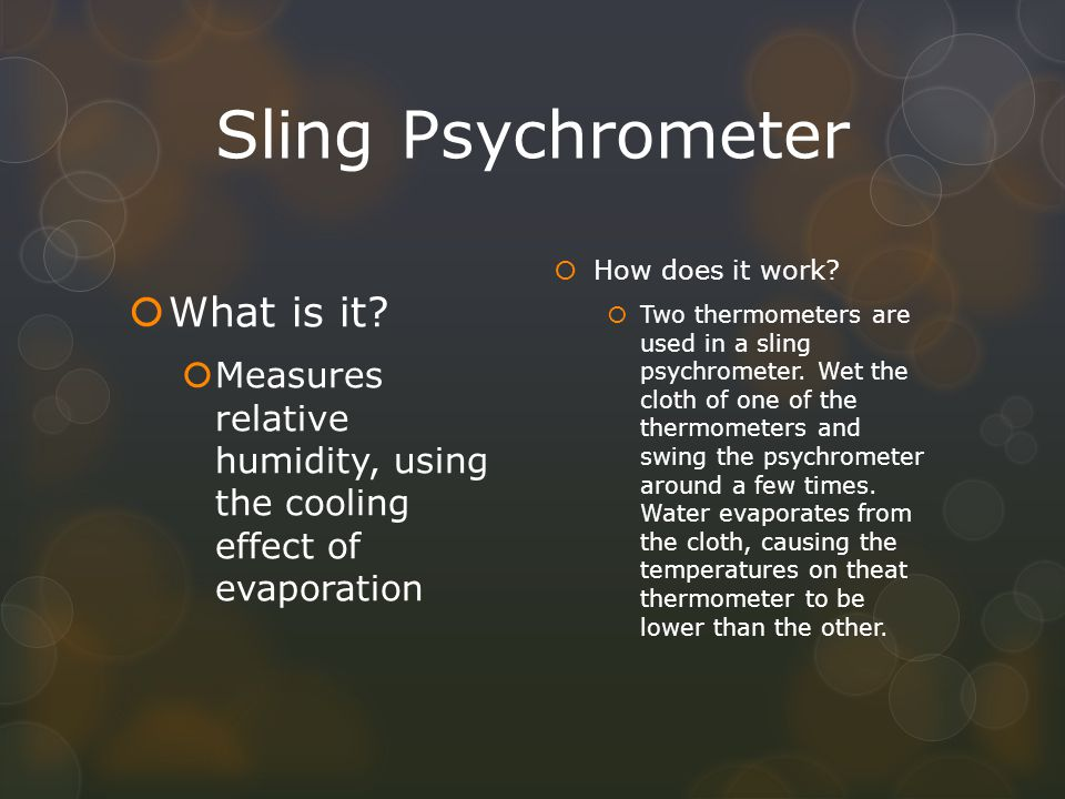 Sling Psychrometer What is it