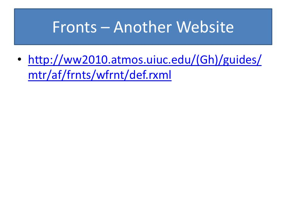Fronts – Another Website