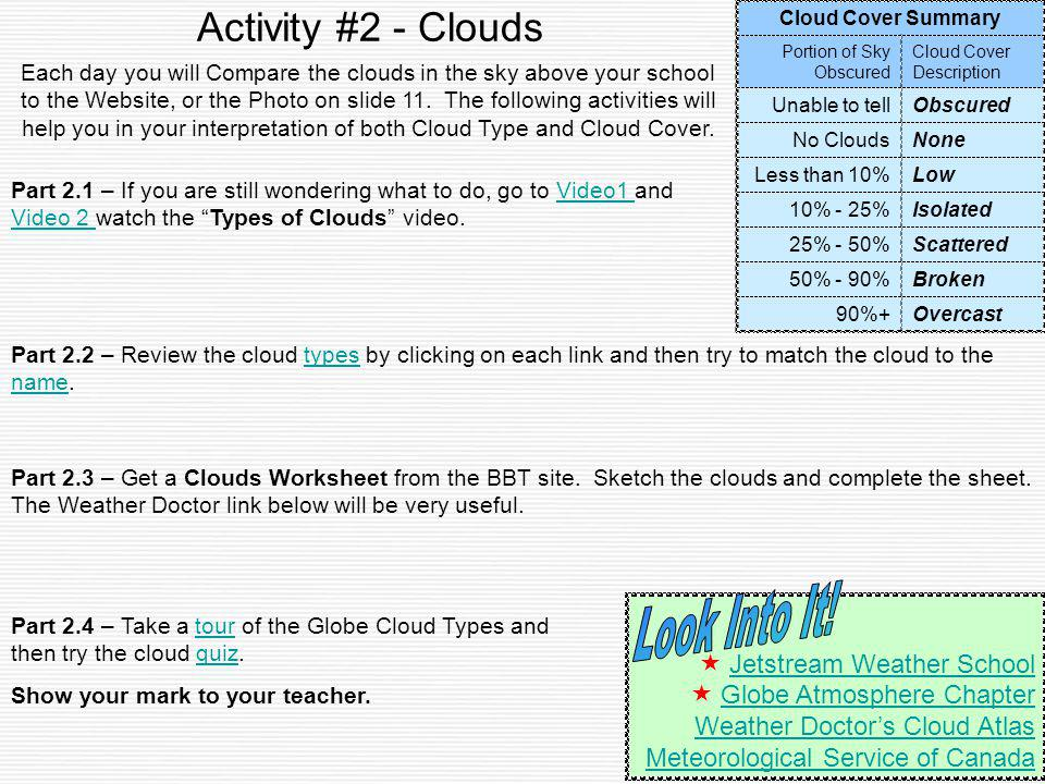 Activity #2 - Clouds Look Into It!