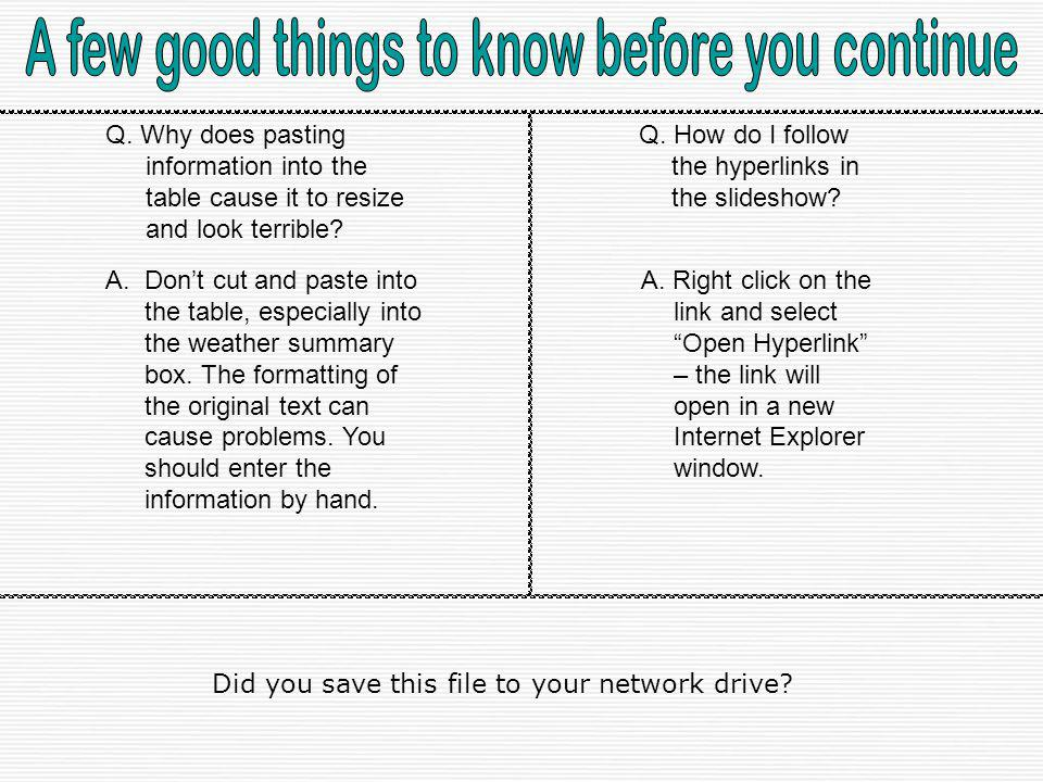 A few good things to know before you continue