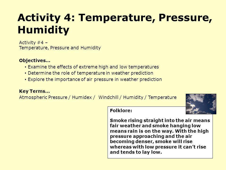 Activity 4: Temperature, Pressure, Humidity