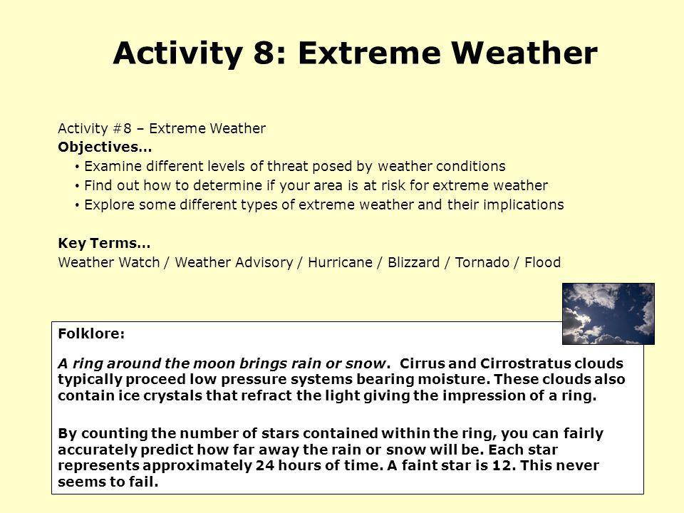 Activity 8: Extreme Weather