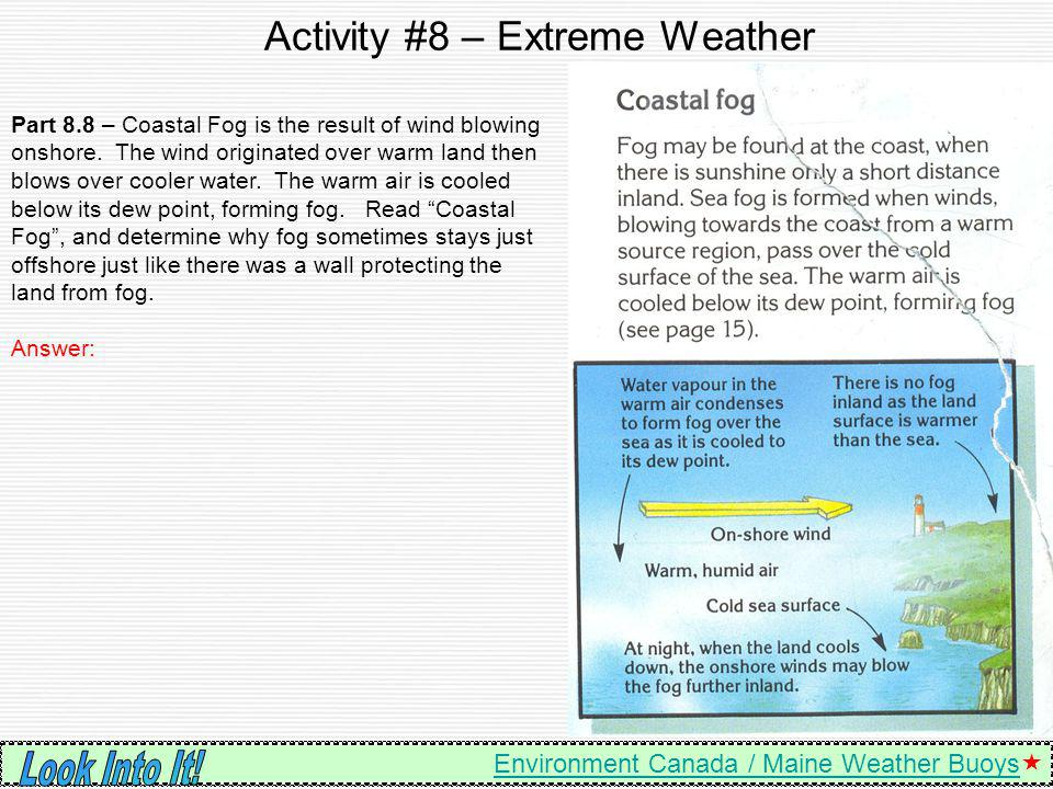Activity #8 – Extreme Weather