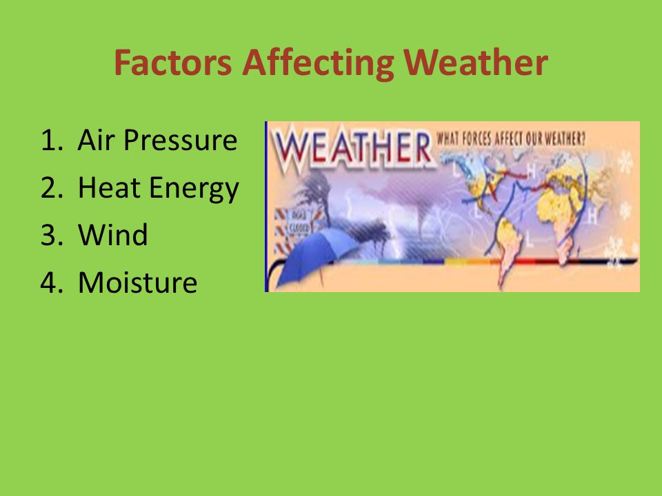 Factors Affecting Weather