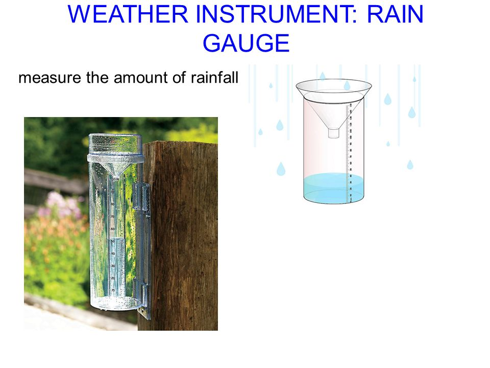 WEATHER INSTRUMENT: RAIN GAUGE