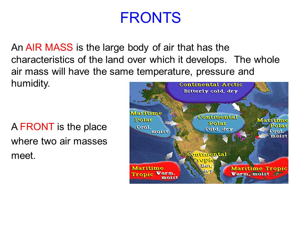 air masses meet happens when you die