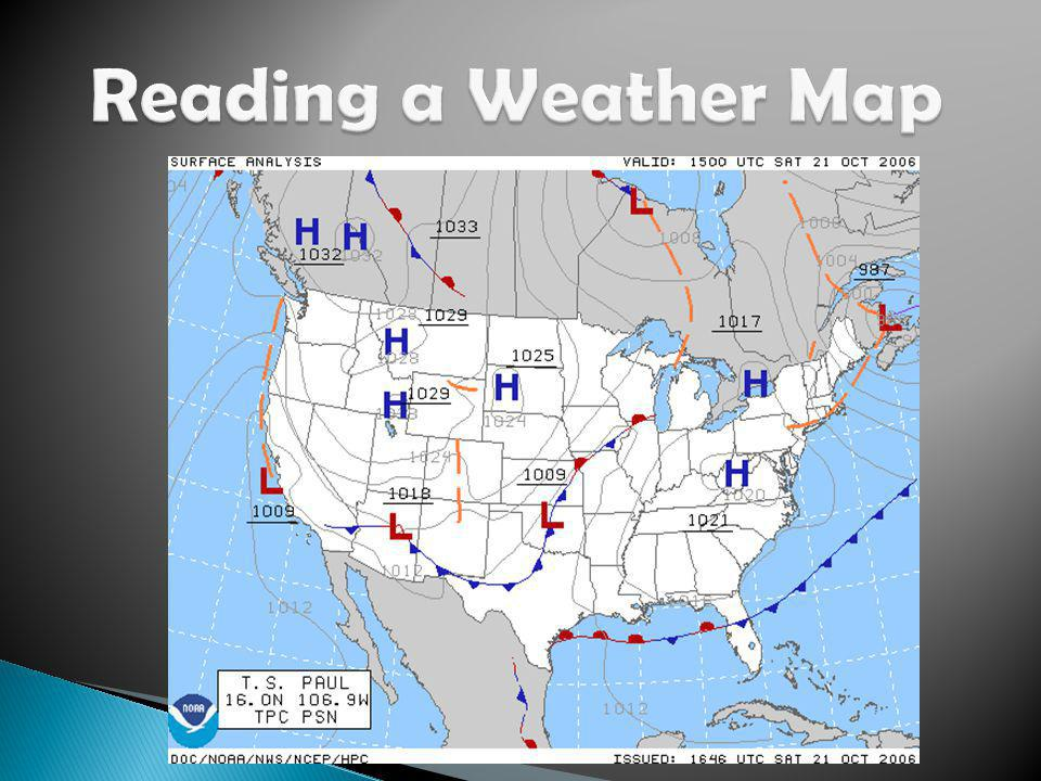 Reading a Weather Map.   ppt video online download