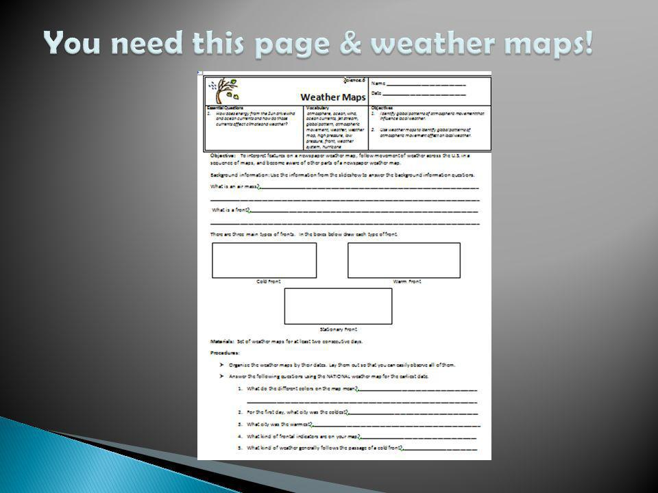 You need this page & weather maps!