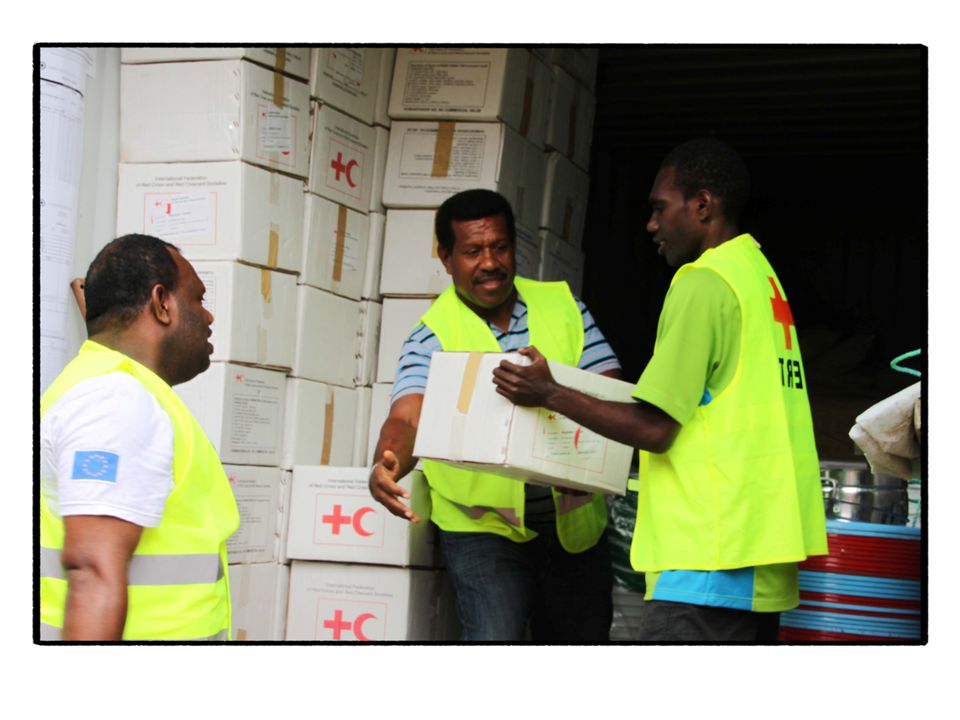 Vanuatu Red Cross has five shipping containers and two storage houses located throughout the country.