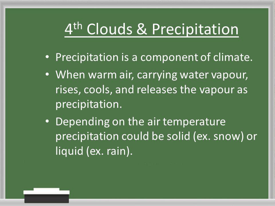 4th Clouds & Precipitation
