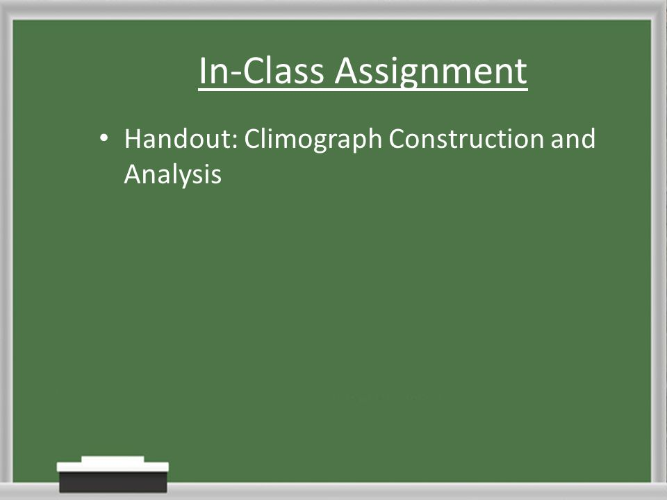 In-Class Assignment Handout: Climograph Construction and Analysis