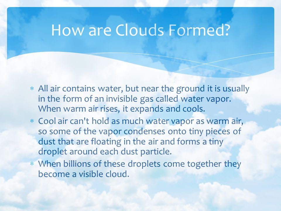 How are Clouds Formed