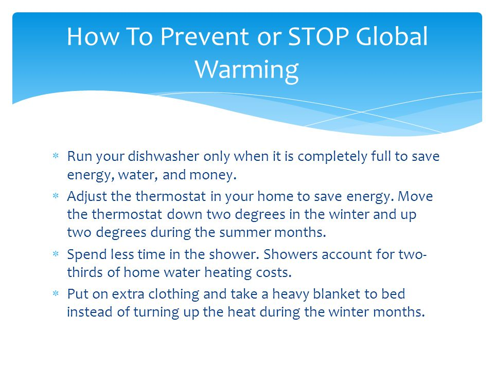 How To Prevent or STOP Global Warming