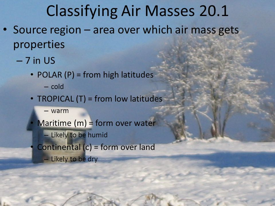 Classifying Air Masses 20.1