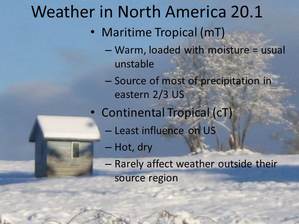 Weather in North America 20.1