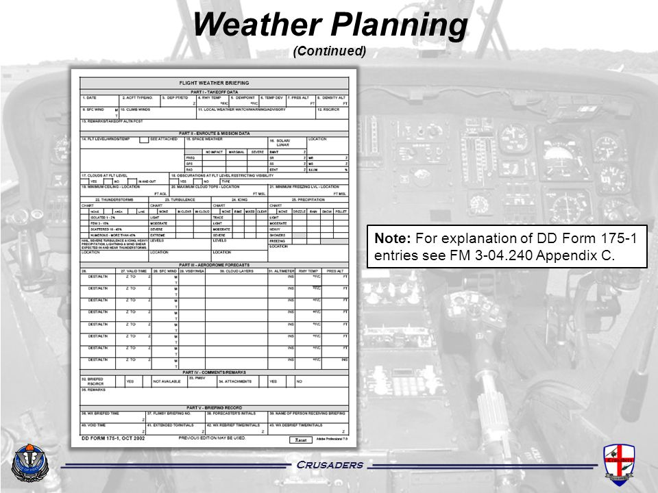 Weather Planning (Continued)