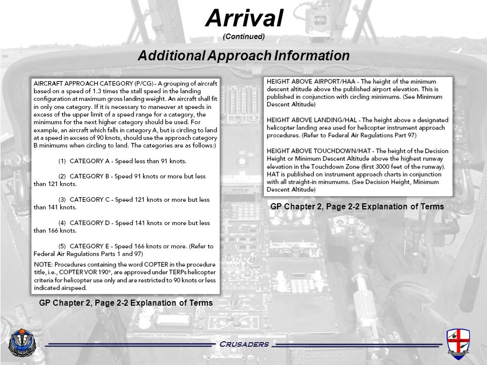 Arrival (Continued) Additional Approach Information