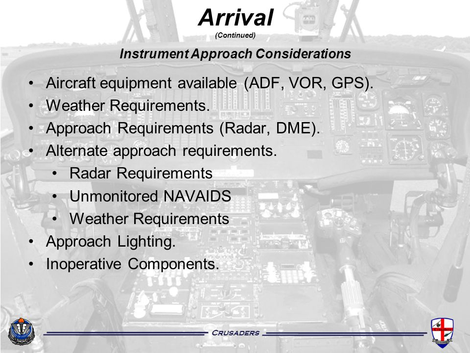 Instrument Approach Considerations