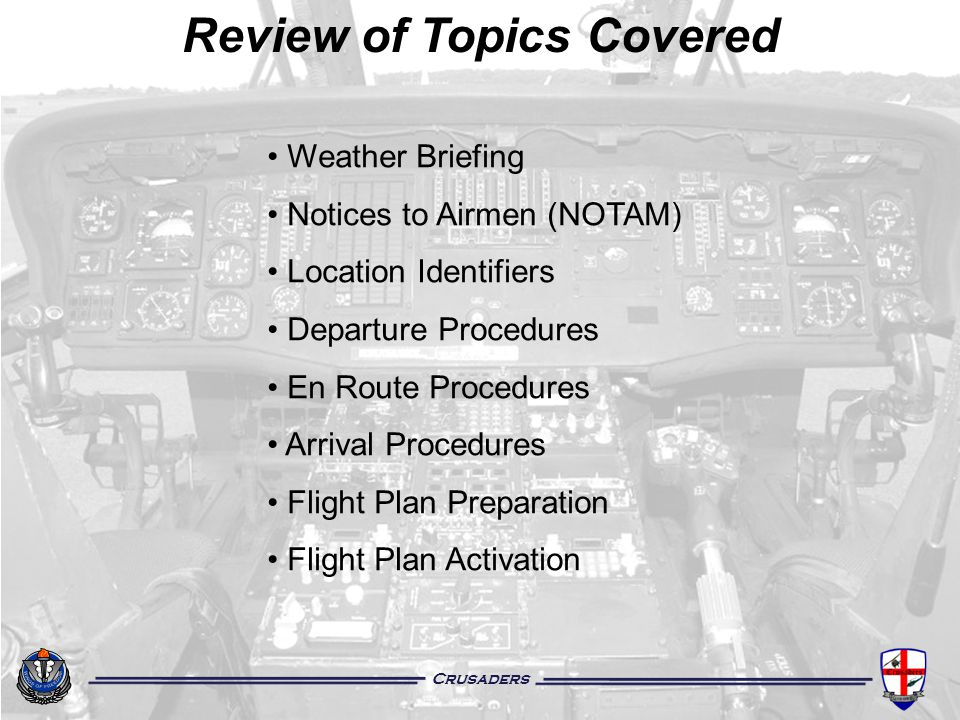 Review of Topics Covered