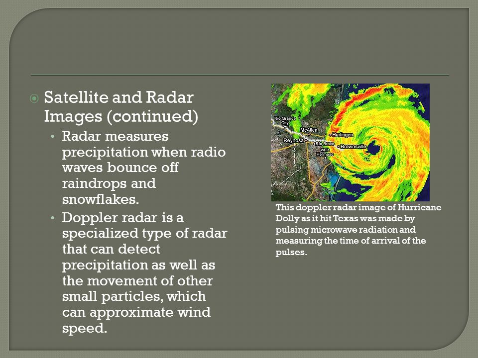 Satellite and Radar Images (continued)