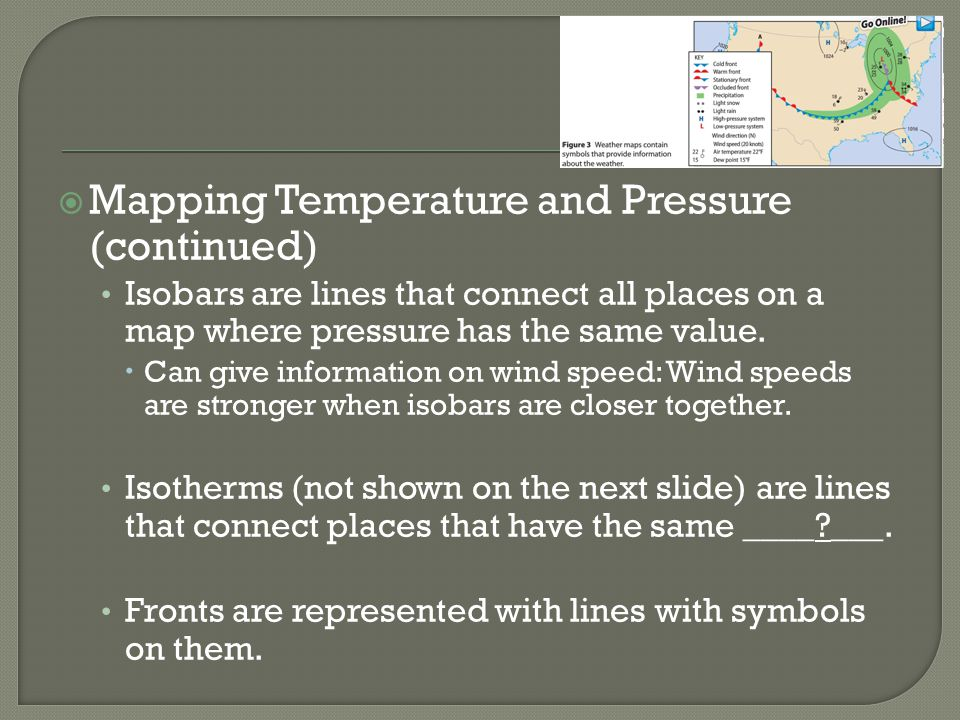 Mapping Temperature and Pressure (continued)