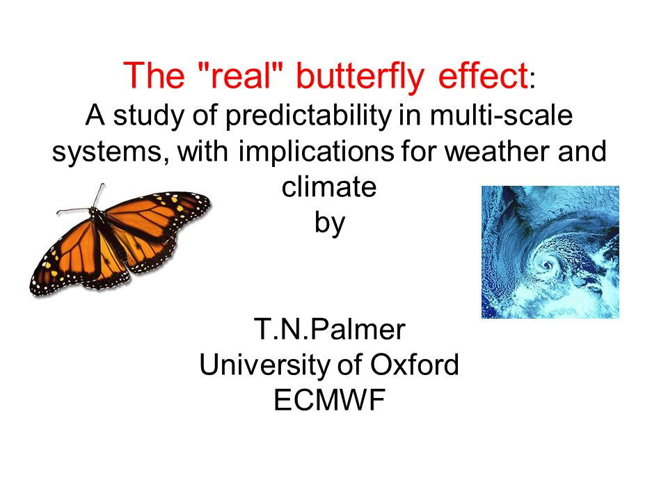 The real butterfly effect: A study of predictability in multi-scale systems, with implications for weather and climate by T.N.Palmer University of Oxford ECMWF