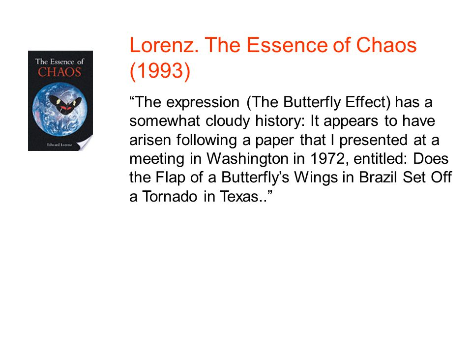 Lorenz. The Essence of Chaos (1993)